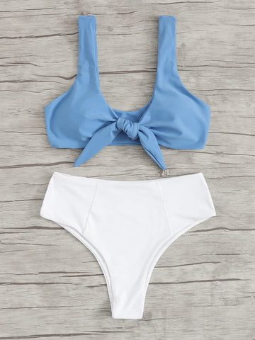 High Waist Bowknot Bikini Set - LaShayAsante Beauty