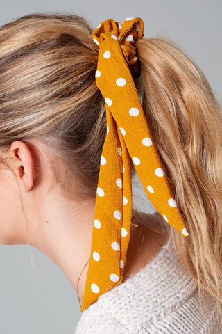 Polka Dot Print Ponytail Scrunchies - LaShayAsante Beauty