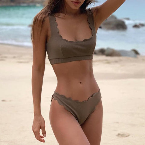 Scalloped Hem Summer Sexy Bikini - LaShayAsante Beauty