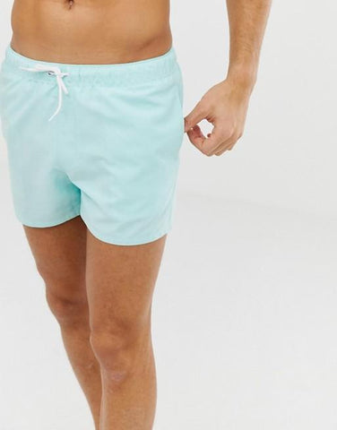 Sky Blue Swim Shorts - LaShayAsante Beauty