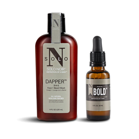 Solo Noir Beard Kit (w/ Bold™ OR Muse Beard Oil™)