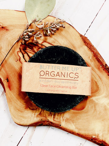 4 Butter Me Up Face Wash Organic Activated Charcoal Face Soap - LaShayAsante Beauty