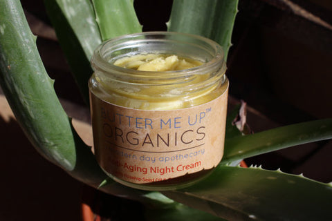 Butter Me Up Anti Aging Night Cream Face Moisturizer Organic - LaShayAsante Beauty