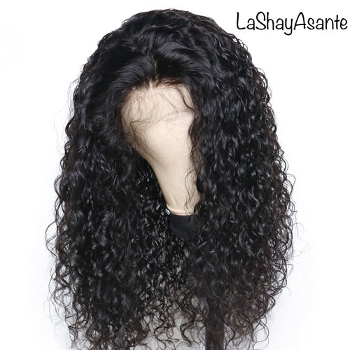 Natural Curly Lace Frontal wig - LaShayAsante Beauty