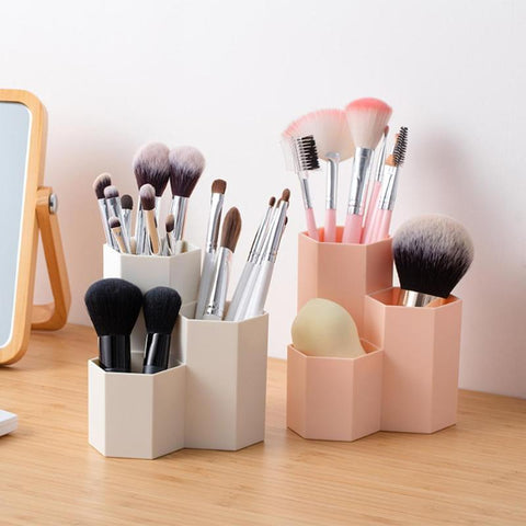 3 Lattices Cosmetic Brush Organizer