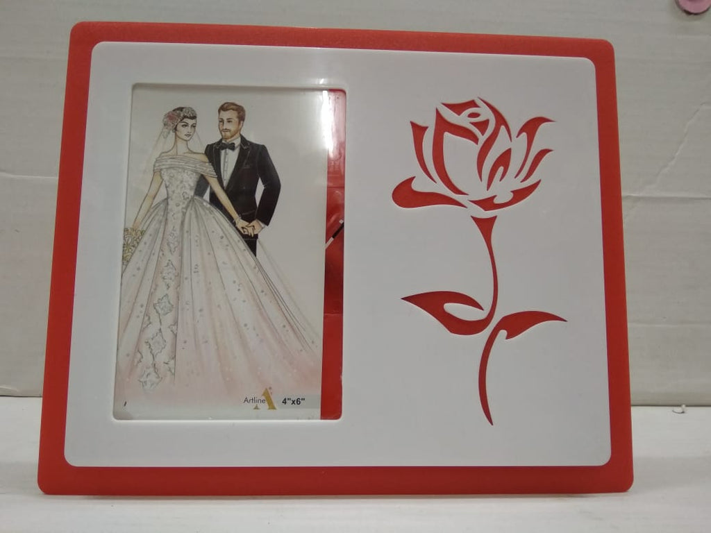 Photo frame With Rose Flower (AK16)