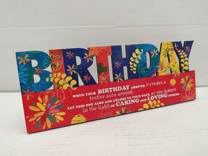 Birthday table top greeting (AP113)