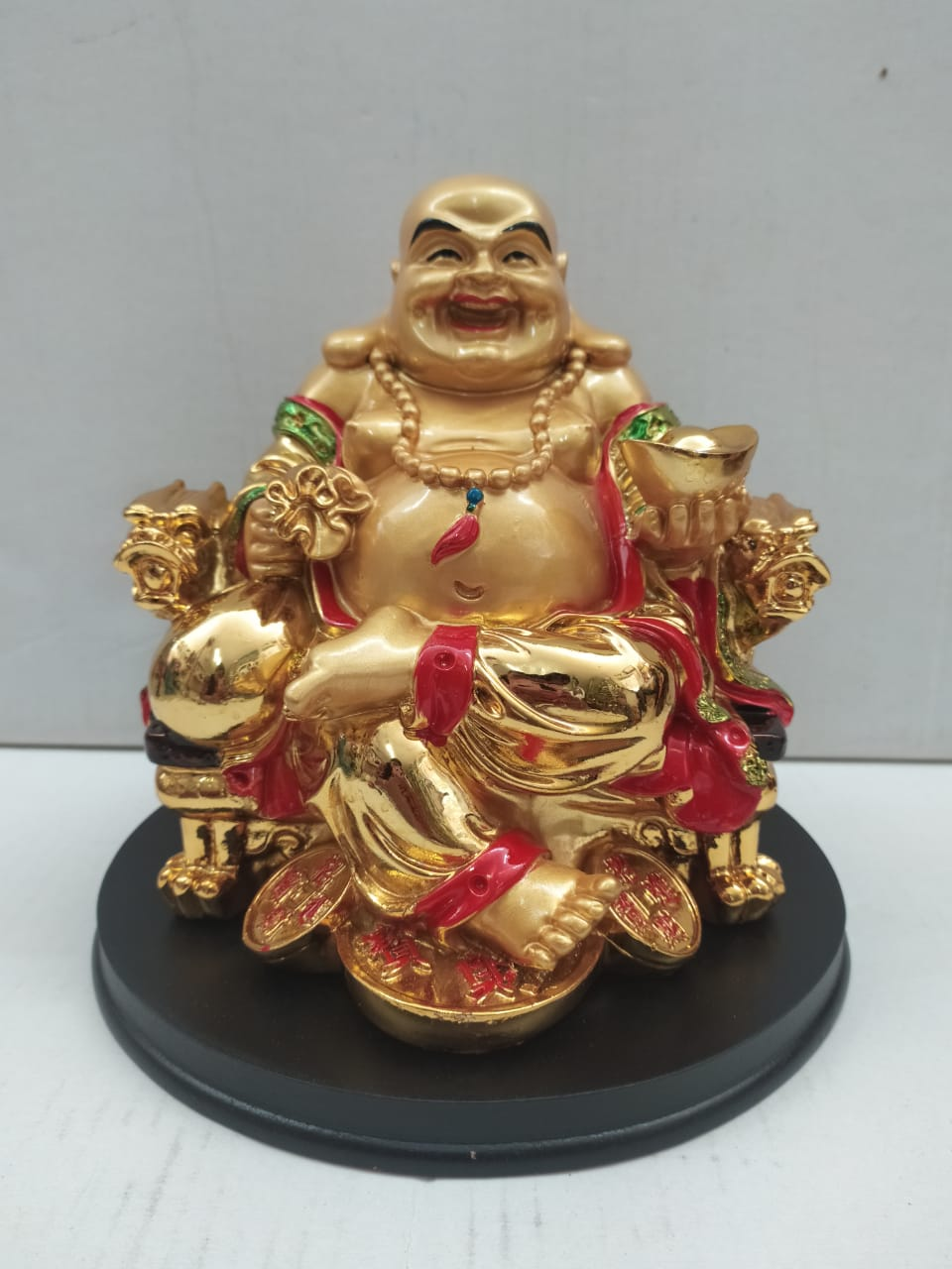 Buy Gold Colour Laughing Budha For Wealth And Good Luck (CT123)Online