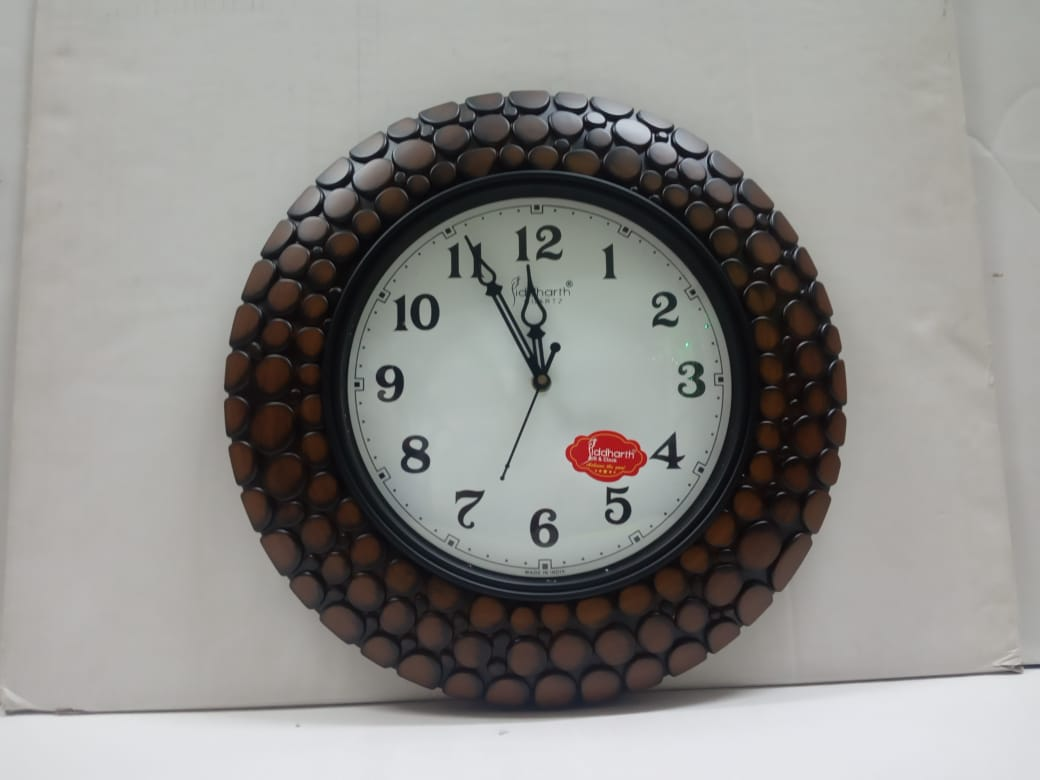 Buy Wall Clock In Wooden Finish Style (CT92)Online