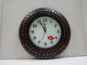 Wall Clock In Wooden Finish Style (CT92)