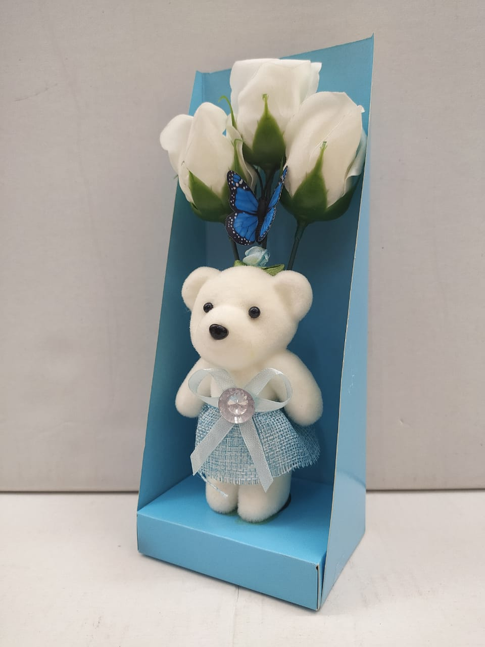 Buy Teddy With Roses Greeting Gift (DE290) Online