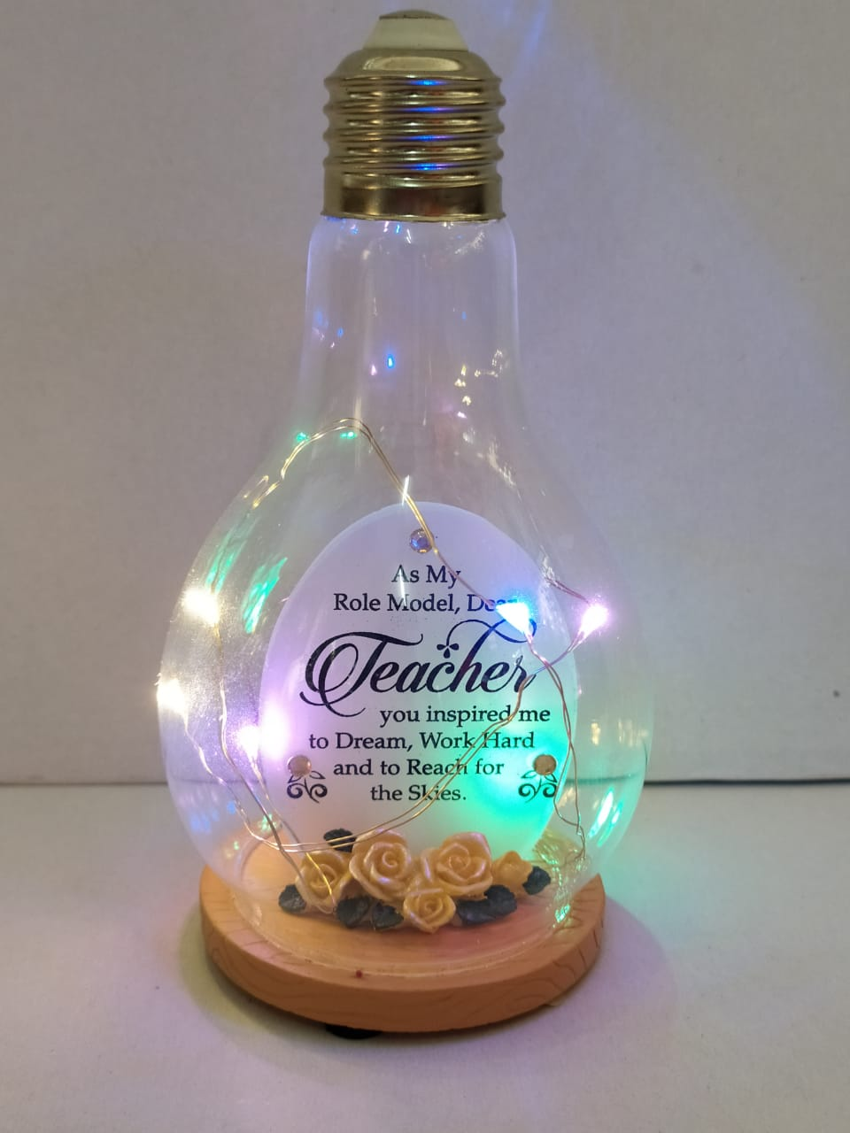 Buy Teachers Day Greeting In Bulb Style With LED (DLM124) Online