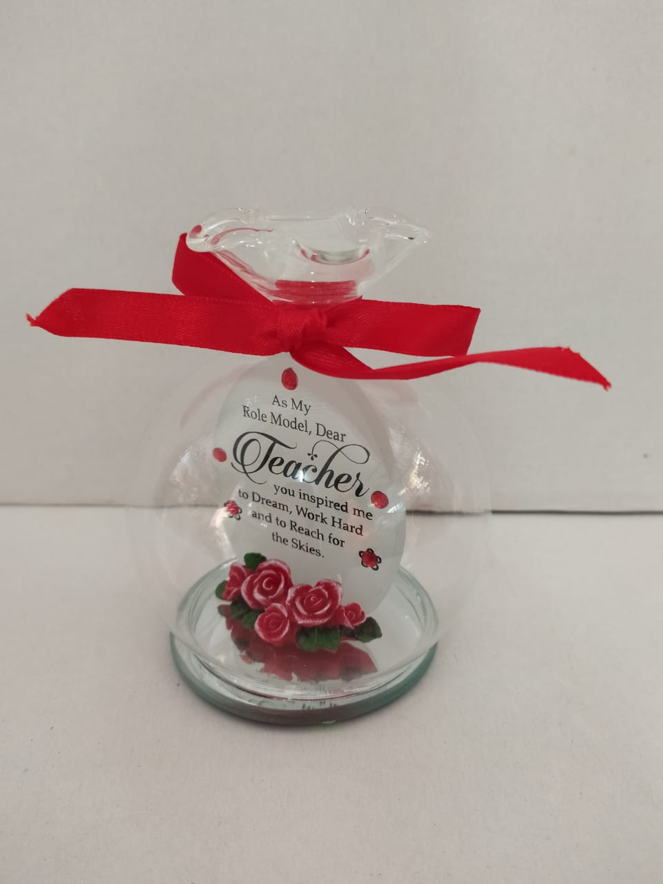 Buy Teachers Day Greeting In Glass Bowl Style(DLM142) Online