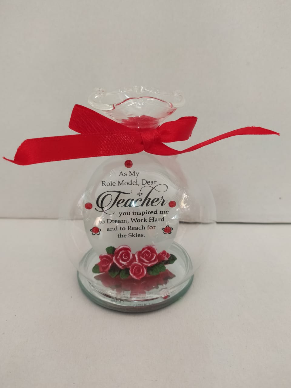 Buy Teachers Day Greeting In Glass Bowl Style (DLM142) Online
