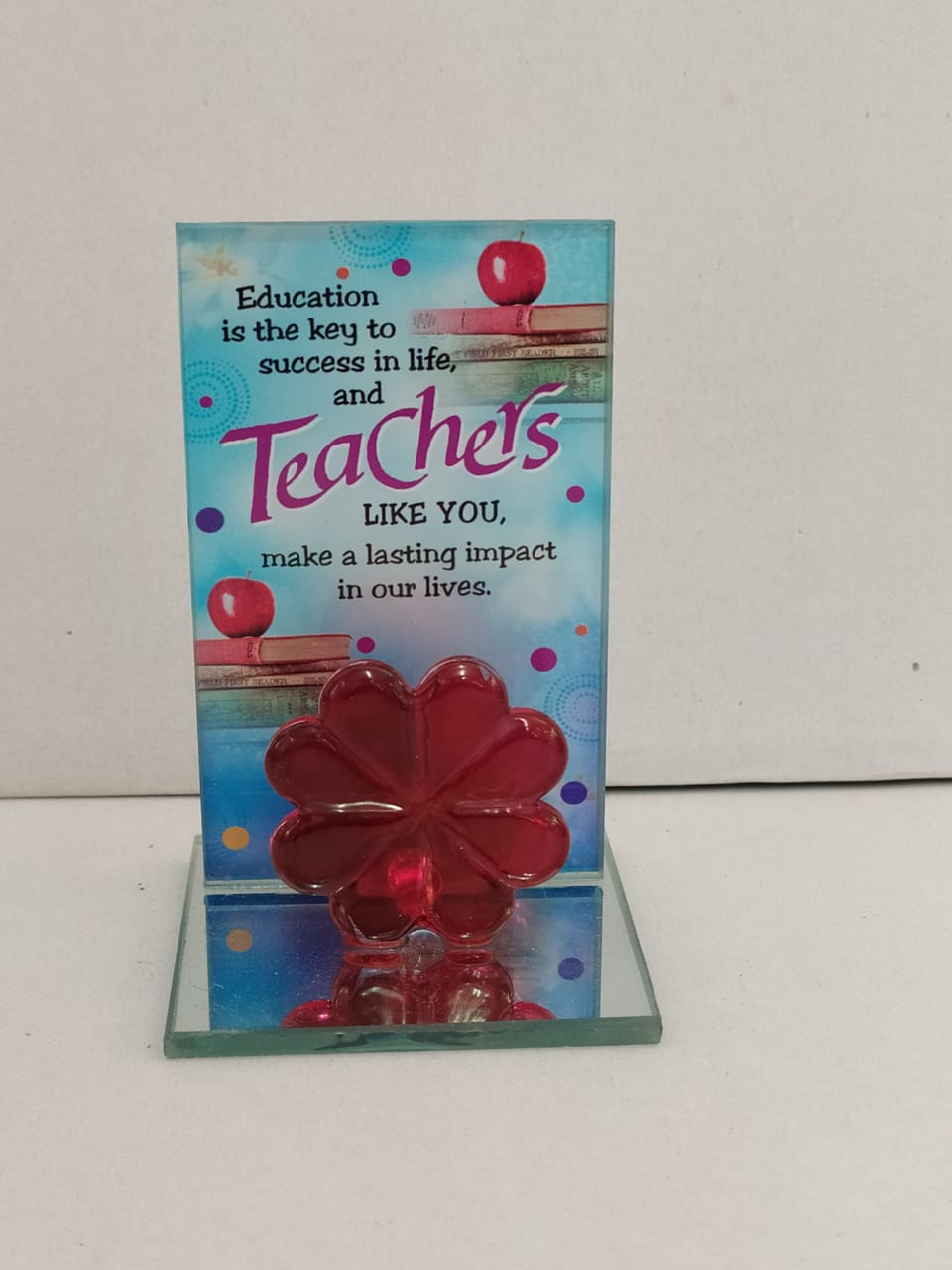 Teachers Day Greeting Standy In Glass Style(DLM144)