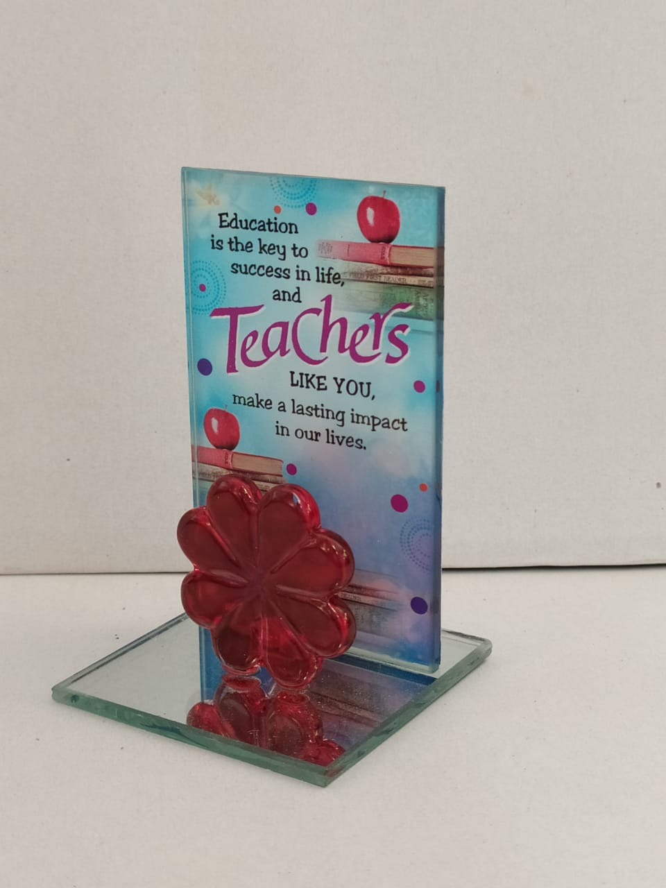 Buy Teachers Day Greeting Standy In Glass Style(DLM144) Online