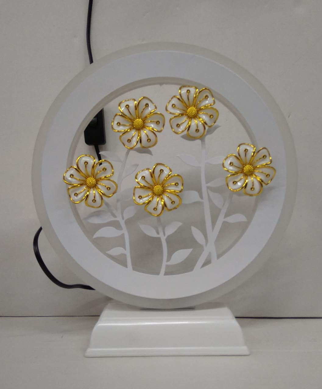 LED Night Lamp With Floral Design(DLM79)