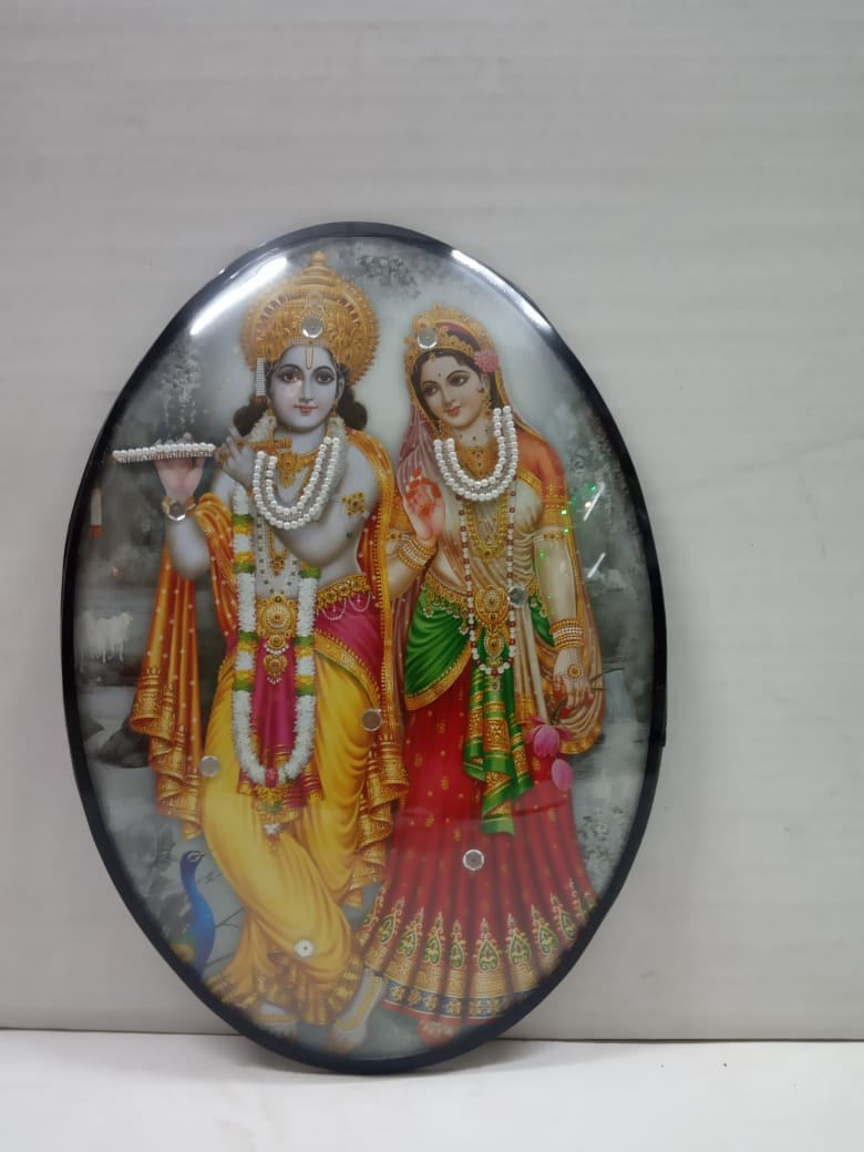 Radha krishna Frame In Oval Shape (MT27)