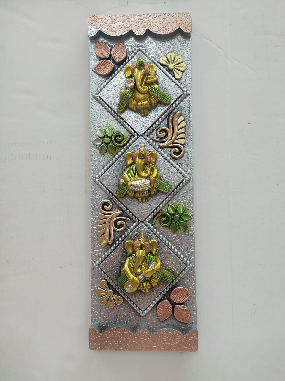 Buy Wall hanging with Ganesha and floral design (NY133)Online