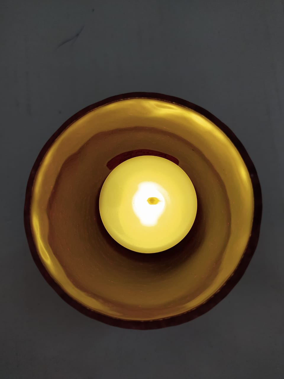 Candle Holder Designer Glass With LED Candle (NY241)