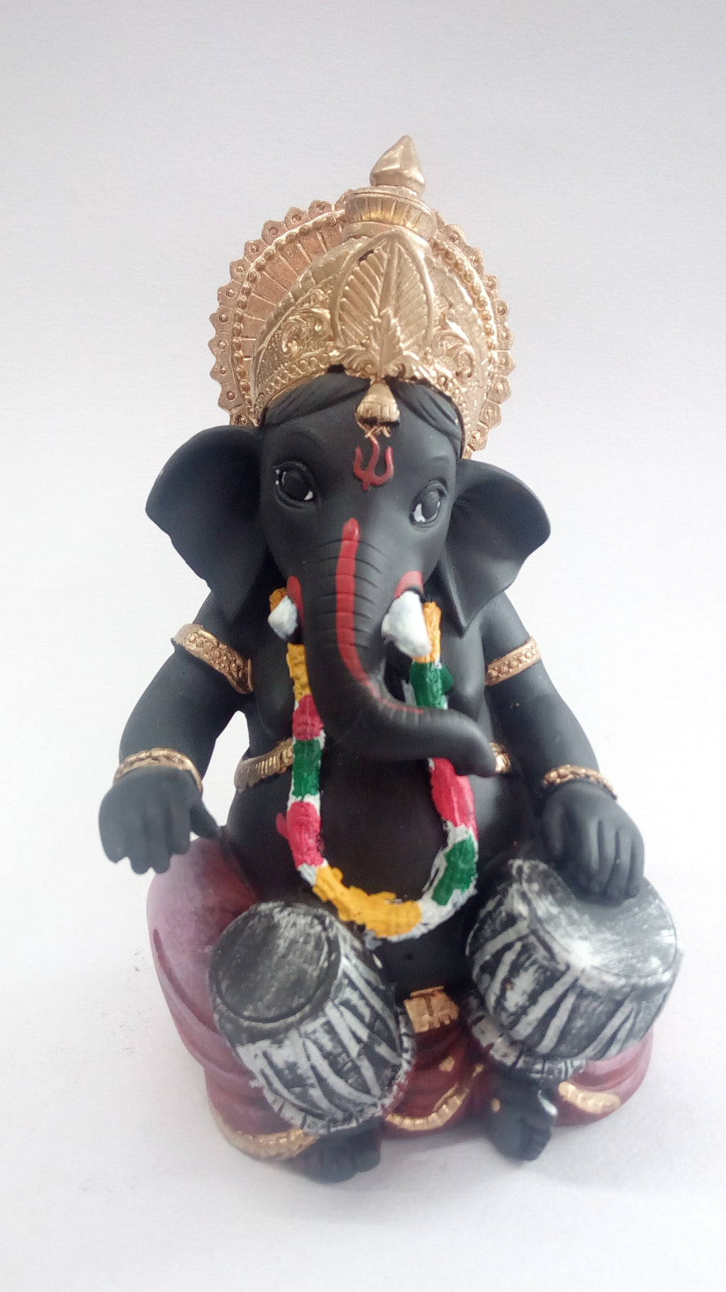 Bongo Drum Playing Ganesha Showpiece SE0080-1a