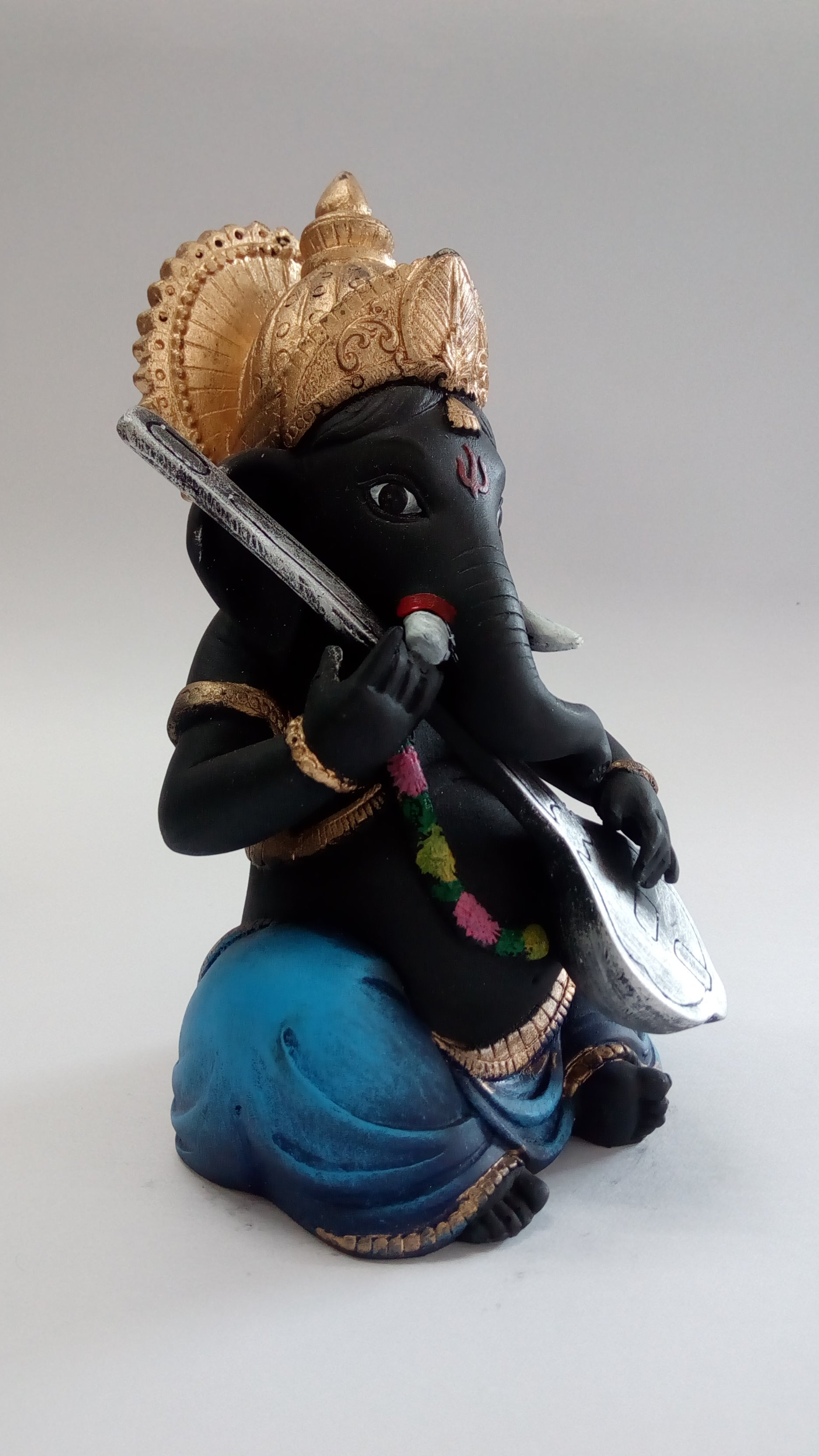 Veena Playing Ganesha Showpiece SE0080-3a