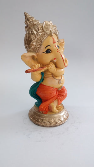 Buy Playing Flute Musician Ganesha SE0105-2a Online