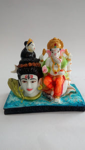 Buy Lord Shiva With Ganesha Showpiece SP0353Online