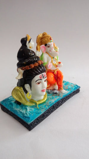 Buy Lord Shiva With Ganesha Showpiece SP0353 Online