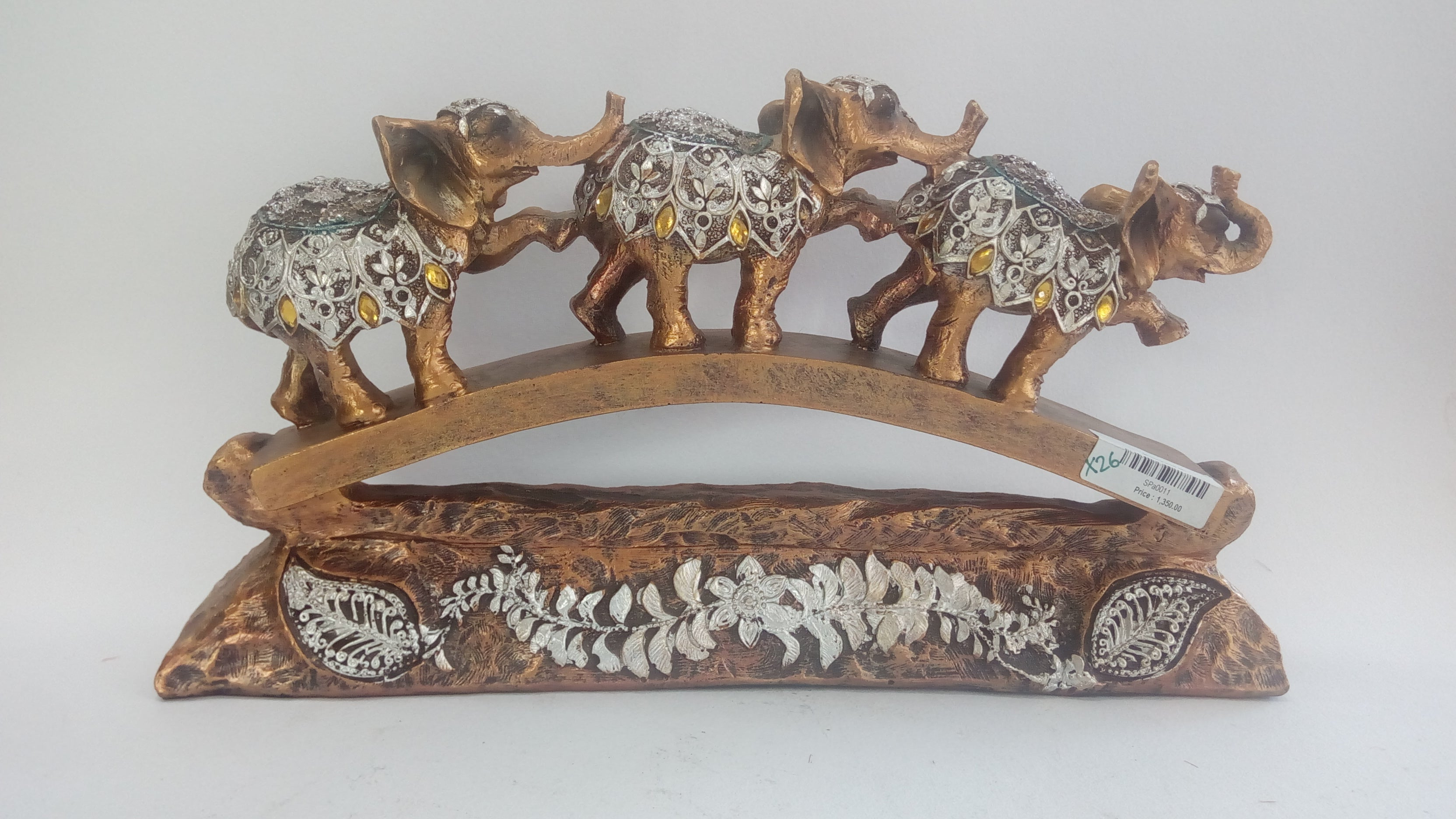 Buy Golden Elephant with silver Showpiece SPa0011Online
