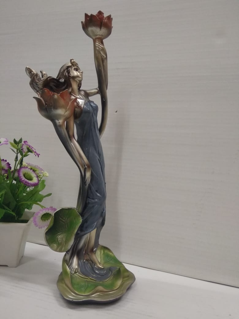Buy Woman designer showpiece with candle holder Sp0307 Online