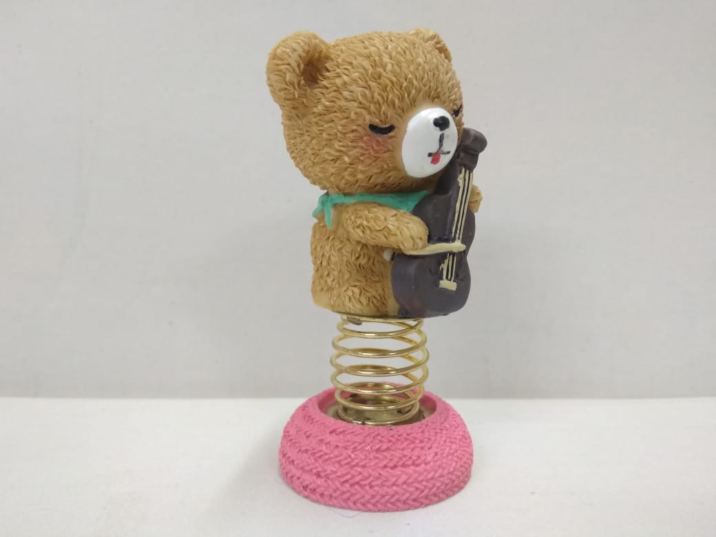 Buy Cute Teddy playing violin with a moving spring...NY164 Online