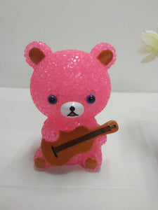 Cute Teddy musician showpiece with LED light DLM90