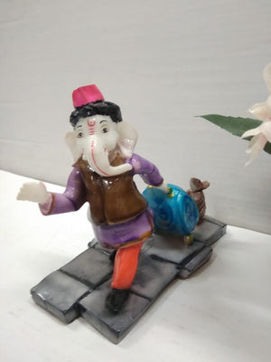 Buy Travelling Ganesha with luggage showpiece AP58 Online