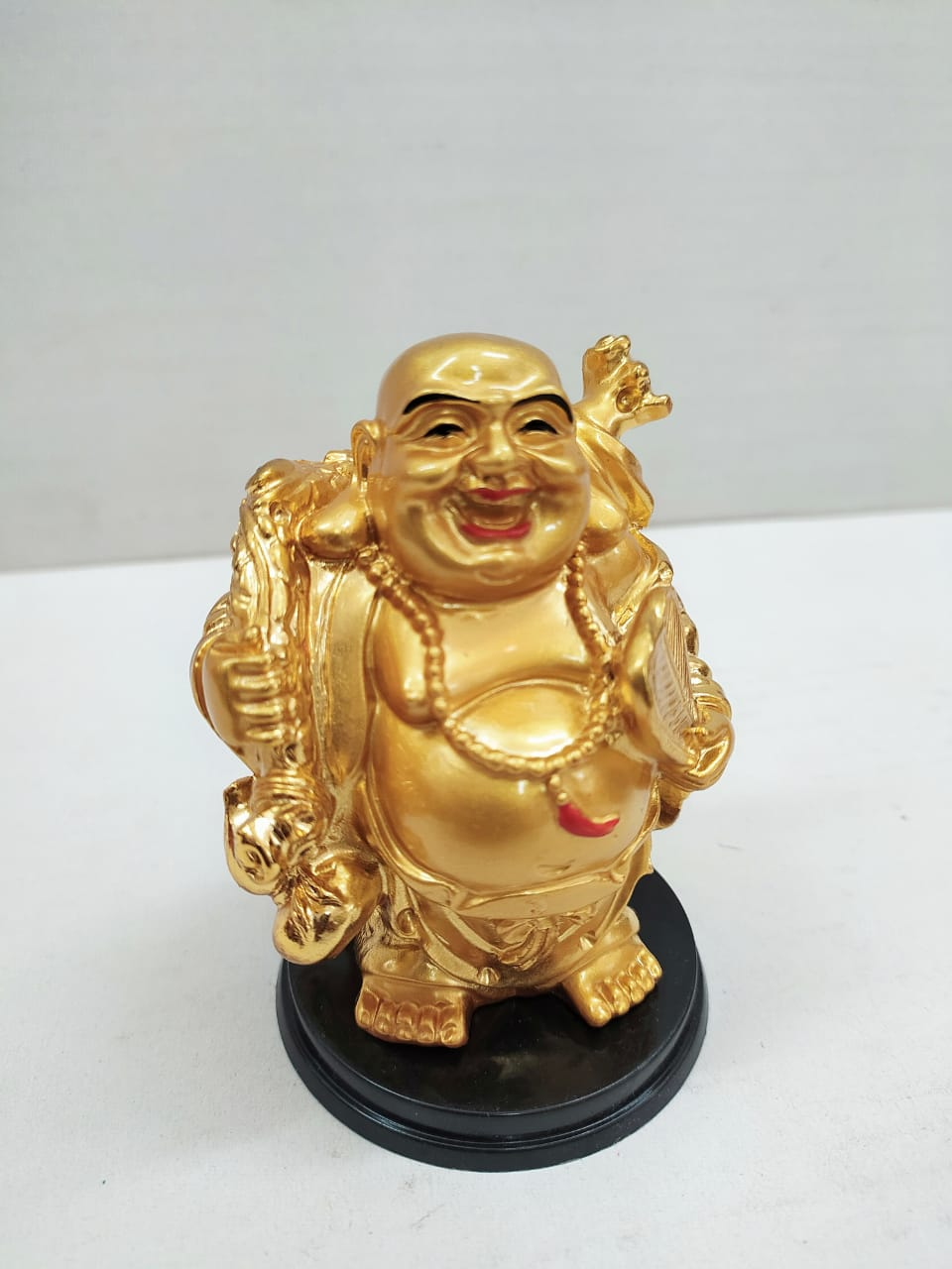 Buy Golden Laughing Budha for wealth and good luck NY66 Online