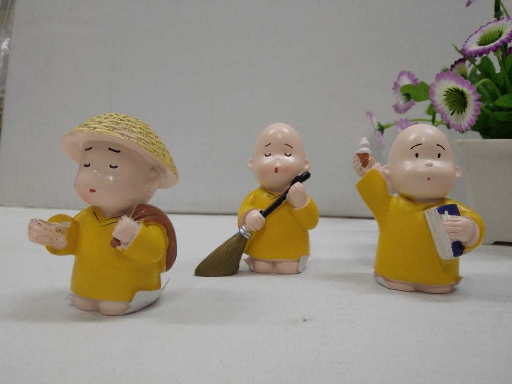 Set of 3 cute monks  CT209