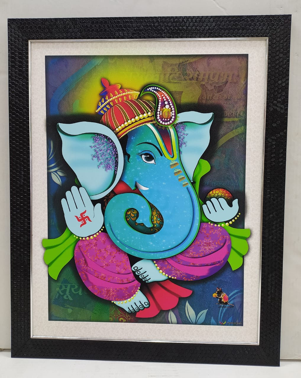 Buy Beautiful Ganesha picture wall frame with vibrant colors NY180  Online