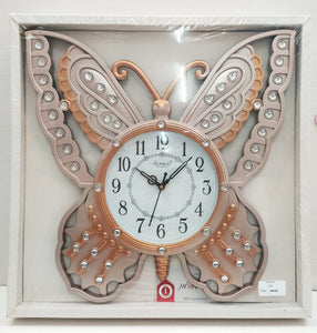 Buy Beautifully designed butterfly wall clock with stones CT5Online