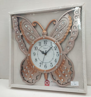 Buy Beautifully designed butterfly wall clock with stones CT5 Online