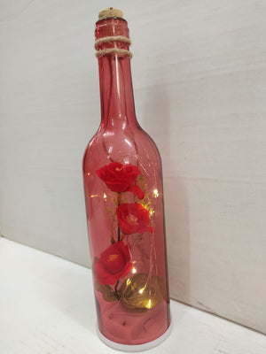 Buy Hanging bottle with flowers inside and LED lighting CT224 Online