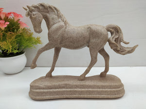 Buy Horse showpiece in stone finish style DLM5Online