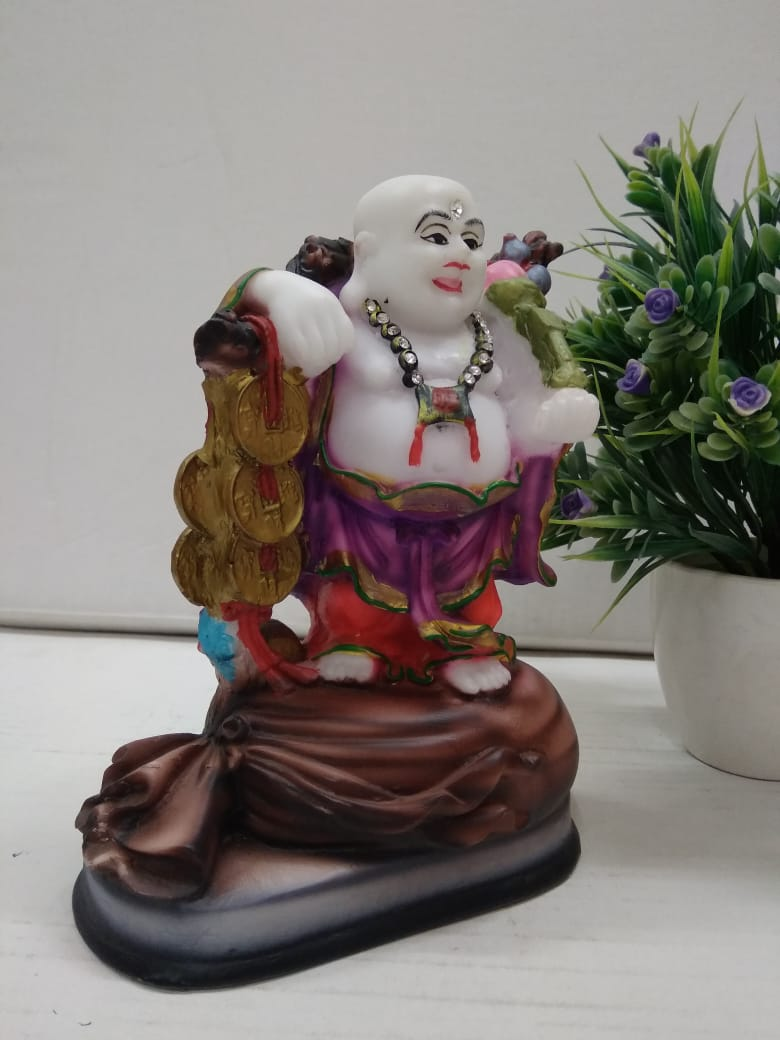 Fengshui Laughing Buddha with coins for wealth and good luck  CT116