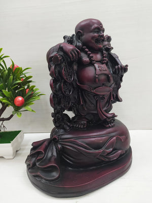 Rosewood finishing Laughing Buddha for good luck and wealth   DC190