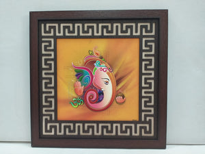 Buy Ganesha wall hanging picture frame with cut design frame   CT260 Online
