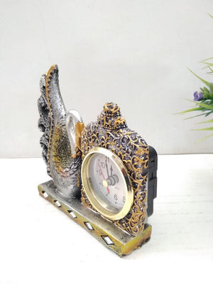 Buy Beautifully crafted swan with clock for desktop   SR020 Online