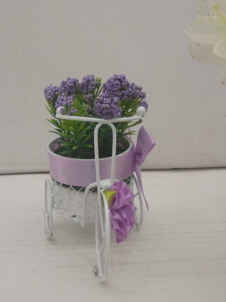 Buy Tricycle with flowers stylish showpiece for tabletop NY142Online