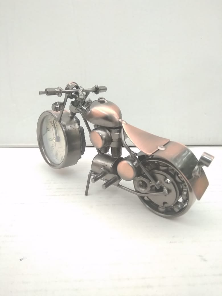 Buy Vintage bike with clock desktop showpiece NY20Online