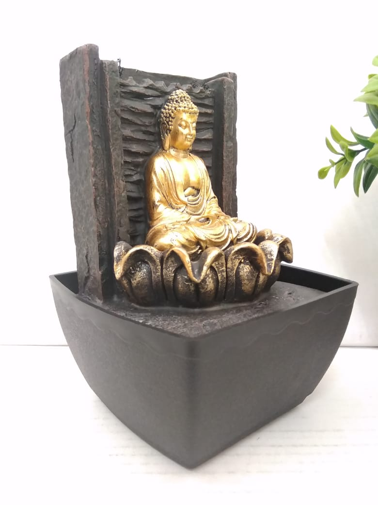 Buy Water fountain with Budha sitting in lotus and LED Lighting    NY 240Online