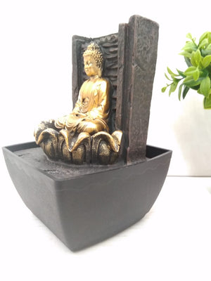 Buy Water fountain with Budha sitting in lotus and LED Lighting    NY 240 Online