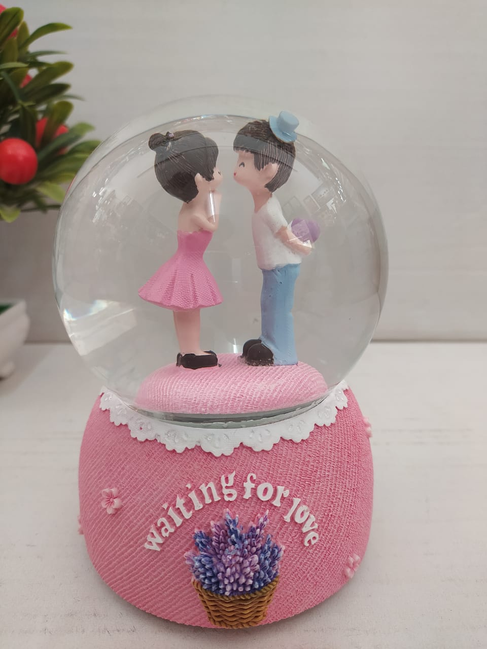 Buy Lovely couple in snow ball with colour changing LED CT212 Online